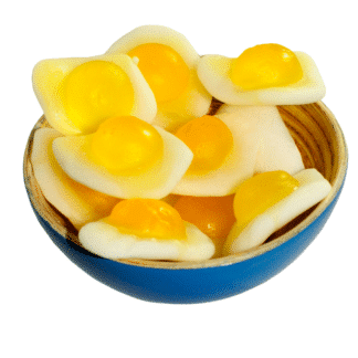 fried eggs sweets in a bowl